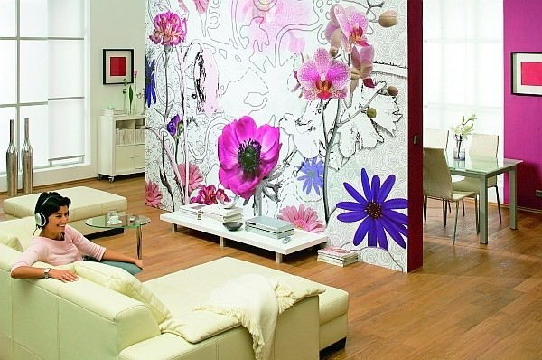 Цветочные мотивы в интерьере