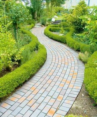 Брусчатка для садовых дорожек