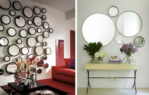 Оформление интерьера зеркалами