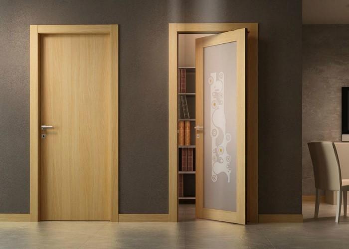 Двери межкомнатные - натуральный шпон
